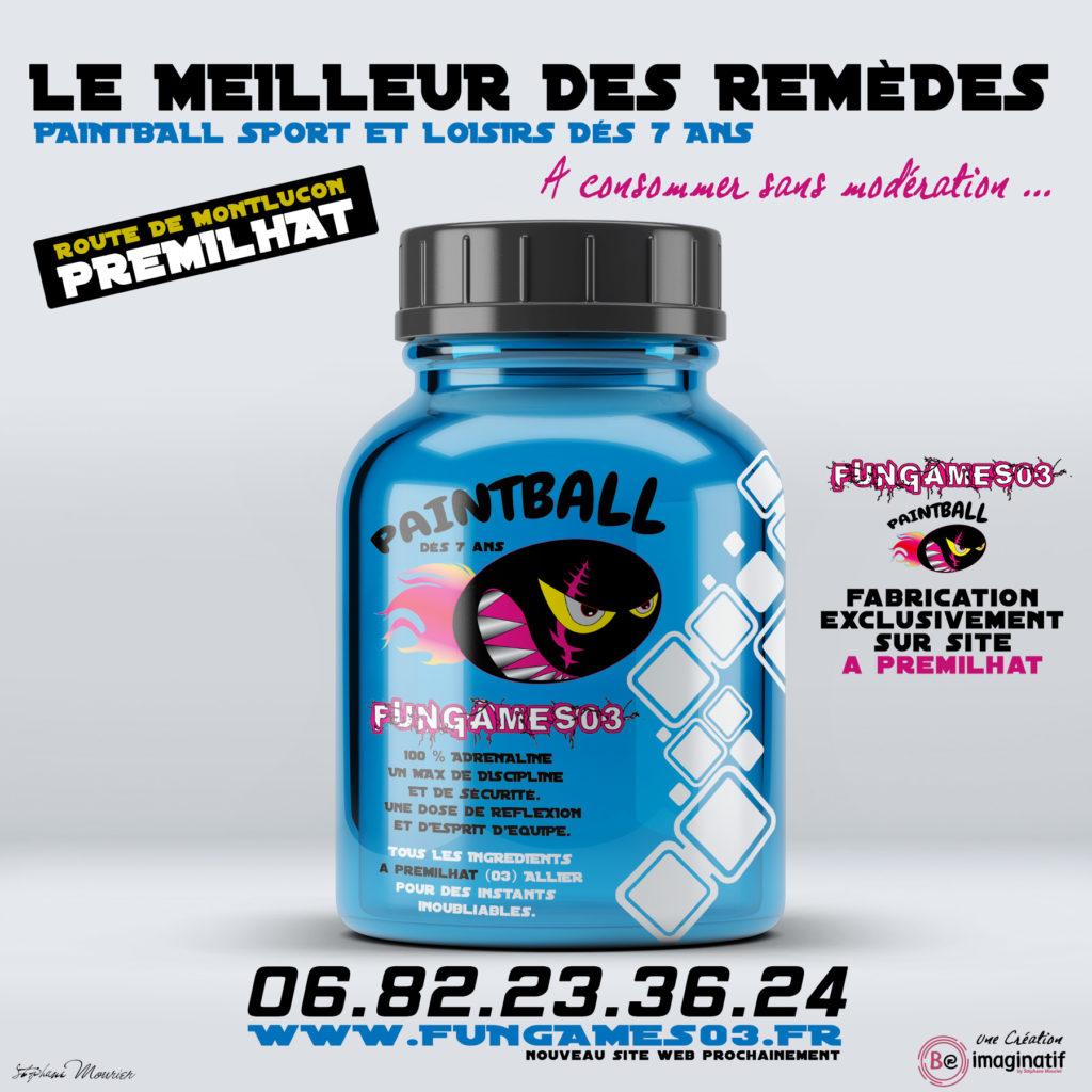 Le paintball des 7 ans à Prémilhat (2 minutes de Montlucon)