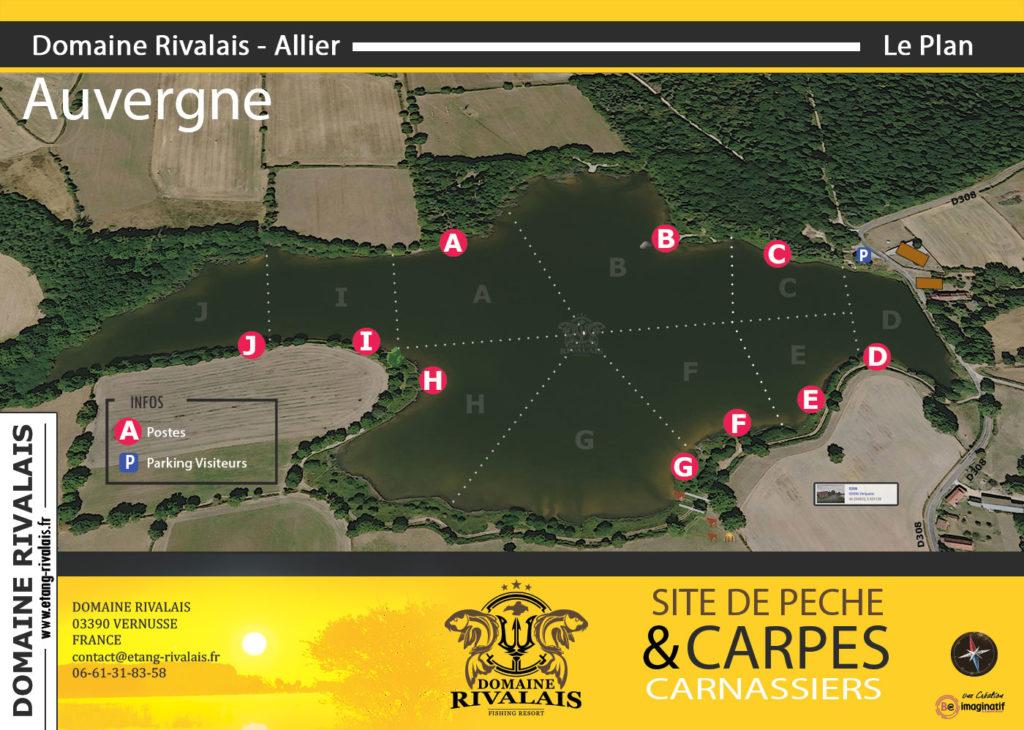 Plan Domaine Rivalais réalisé par BE IMAGINATIF